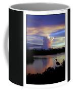 Great Blue Heron Sunset Coffee Mug