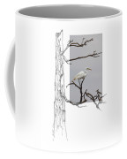 Great Egret - Gnarled Tree Coffee Mug