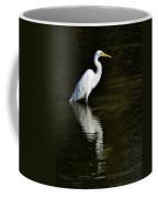 Great Egret Reflection  Coffee Mug