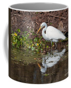 Great Egret Searching For Food In The Marsh Coffee Mug