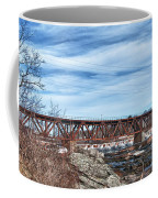 Great Falls Rr Bridge 10477c Coffee Mug