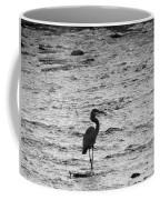 Great Grey Heron Silhouette Coffee Mug