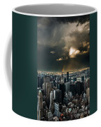 Great Skies Over Manhattan Coffee Mug by Hannes Cmarits