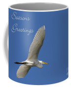 Great White Egret Holiday Card Coffee Mug