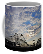 Great White Roller Coaster - Adventure Pier Wildwood Nj At Sunrise Coffee Mug