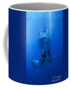 Great White Shark And Divers, Guadalupe Coffee Mug