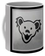 Greatful Dead Dancing Bear In Black And White Coffee Mug