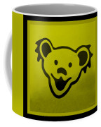 Greatful Dead Dancing Bear In Yellow Coffee Mug