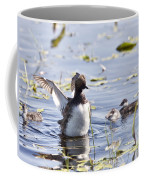 Grebe With Babies Coffee Mug