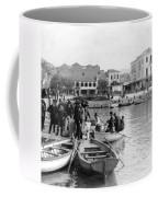 Greek Immigrants Fleeing Patras Greece - America Bound - C 1910 Coffee Mug