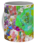Green Abstract Rose Coffee Mug