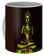 Green And Gold Buddha Coffee Mug