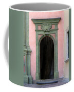 Green And Pink Doorway In Krakow Poland Coffee Mug