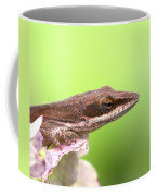 Green Anole In Pastels Coffee Mug