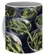 Green Beans In Tin Buckets For Sale Coffee Mug by David Evans