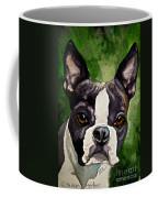 Green Black And White Coffee Mug