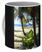 Green Chair On The Beach Coffee Mug