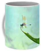 Green Dragonfly Waiting Coffee Mug