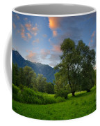 Green Field With Trees Coffee Mug