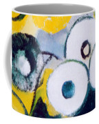 Green Jug With Round Flowers Coffee Mug