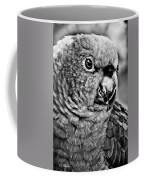 Green Parrot - Bw Coffee Mug