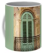 Green Shutters And Balcony In Verona Coffee Mug