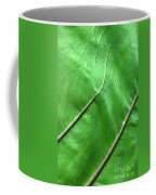 Green Veiny Leaf 2 Coffee Mug