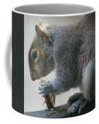 Grey Squirrel Dining Out Coffee Mug