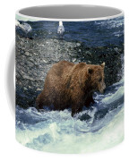 Grizzly Bear Fishing Coffee Mug