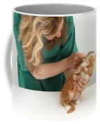 Grooming A Kitten Coffee Mug