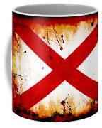 Grunge Style Alabama Flag Coffee Mug