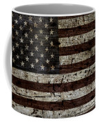 Grungy Wooden Textured Usa Flag2 Coffee Mug