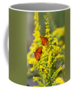 Gulf Fritilaries On Golden Rod Coffee Mug