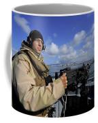 Gunners Mate Mans An M2 Hb .50-caliber Coffee Mug by Stocktrek Images
