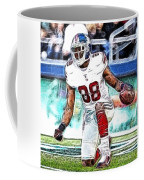 Hakeem Nicks - Sports - Football Coffee Mug by Paul Ward