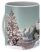 Half Dome In The Snow Coffee Mug