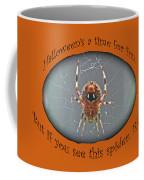 Halloween Greeting Card - Marbled Orb Weaver Spider Coffee Mug