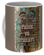 Halloween Trick Or Treat Skeleton Greeting Card Coffee Mug