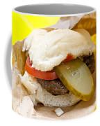 Hamburger With Pickle And Tomato Coffee Mug