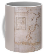 Hand Drawn Map By G. Washington Coffee Mug