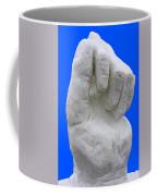 Hand In Snow Coffee Mug