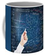 Hand Writing Science Formulas Coffee Mug by Setsiri Silapasuwanchai