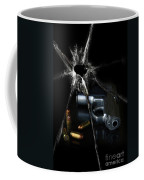 Handgun Bullets And Bullet Hole Coffee Mug