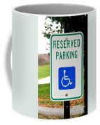 Handicapped Parking Sign Coffee Mug by Photo Researchers