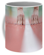 Hands On The White Line Coffee Mug