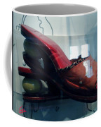 Handsome Shoes With Fresh Eggs In The Middle Plateu Coffee Mug