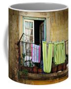Hanged Clothes Coffee Mug by Carlos Caetano