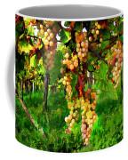 Hanging Grapes On The Vine Coffee Mug by Elaine Plesser