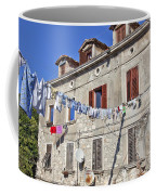 Hanging Out To Dry In Rovinj Coffee Mug