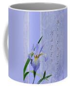 Happy Birthday Greeting Card - Blue Flag Iris Wildflower Coffee Mug